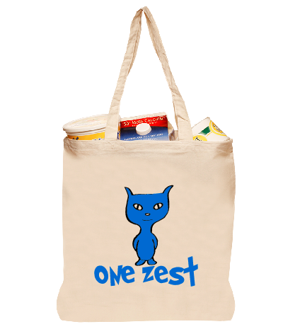 One Zest Natural Cotton Tote Bag