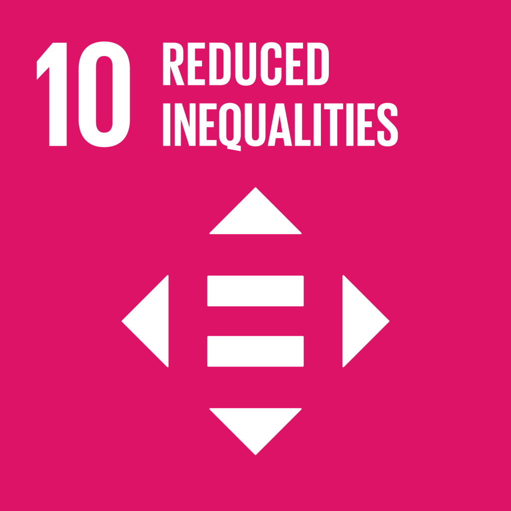Icone goal 10 Reduce Inequality red