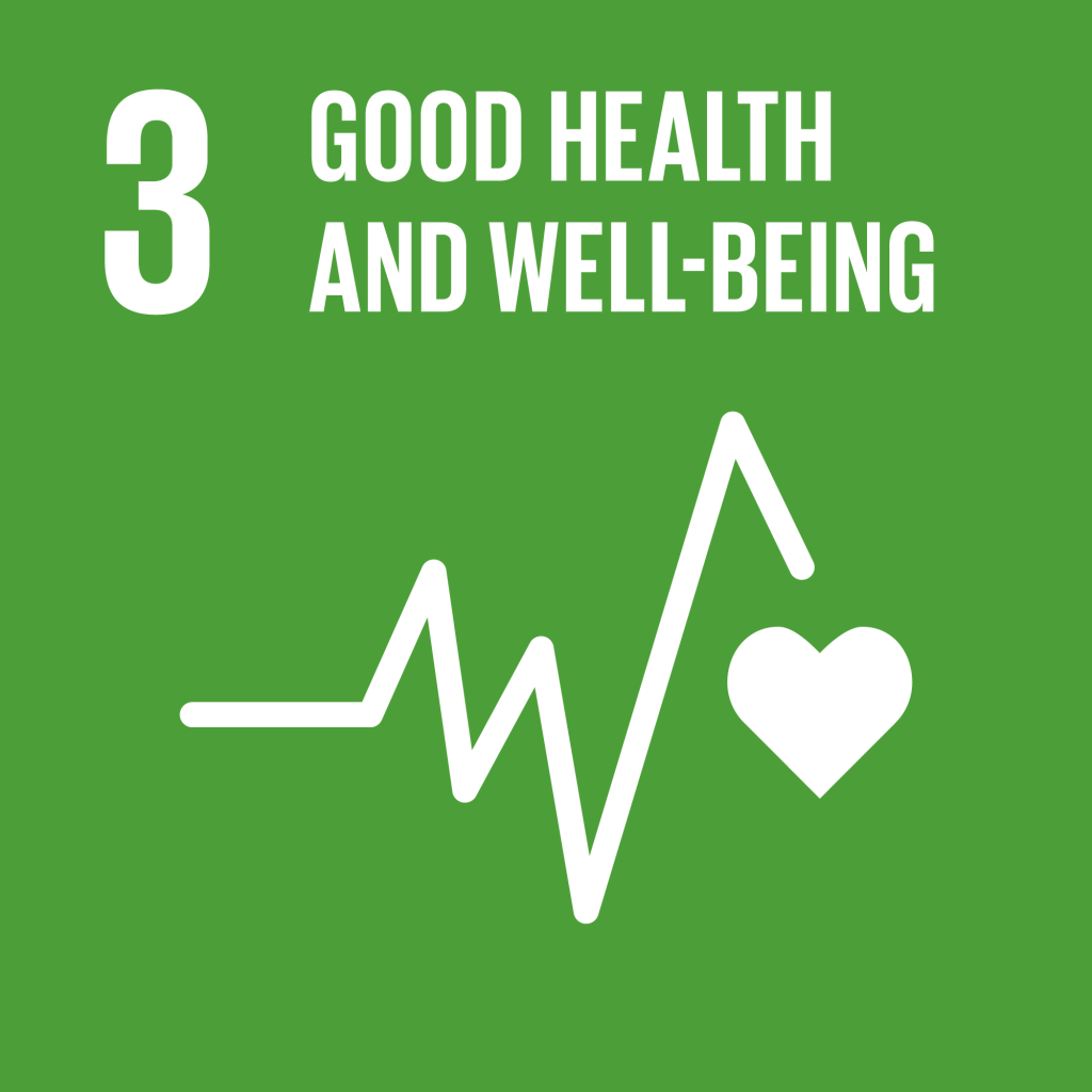 Goal 3 green icon good health and well-being